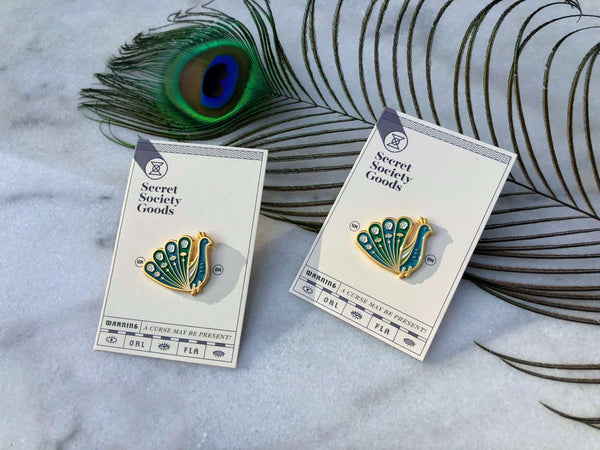 Omniscient Peacock Lapel Pin