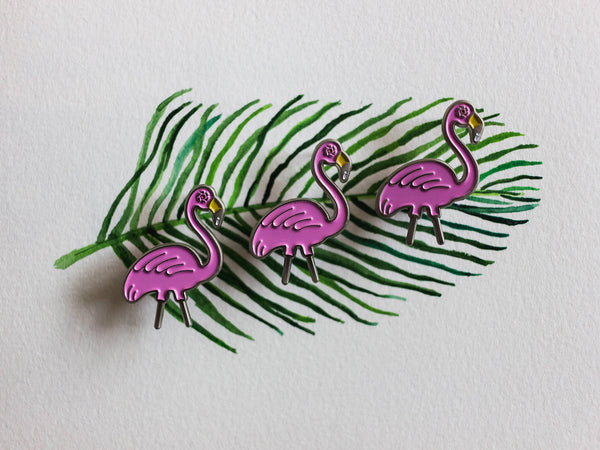 Flamingo Surveillance Lapel Pin
