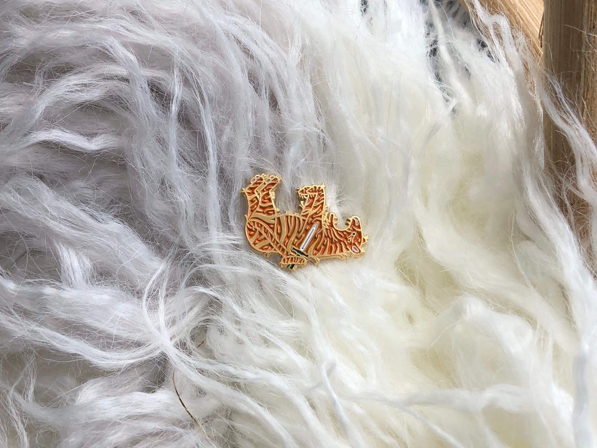 Sleeping Tiger Enamel Pin