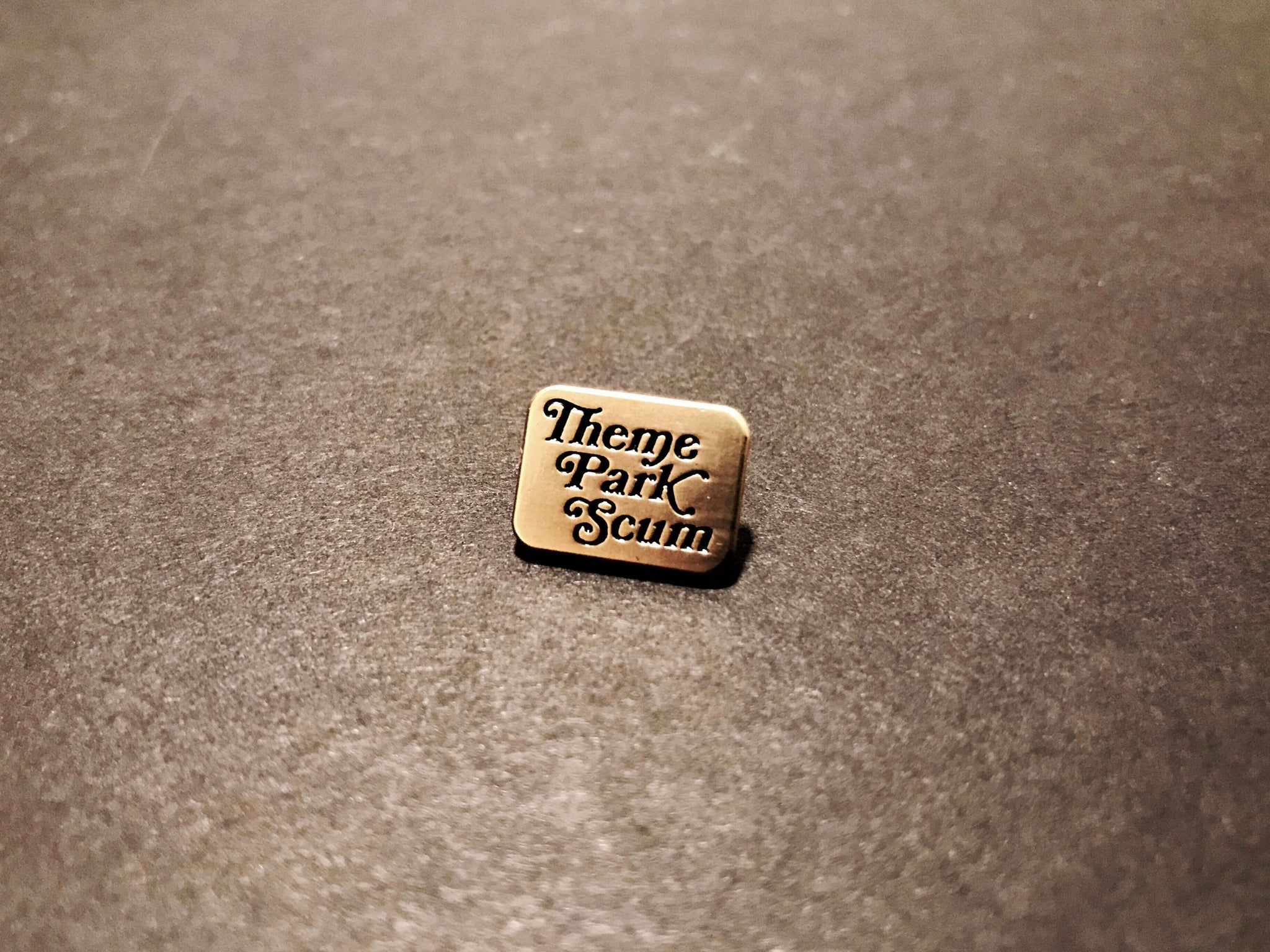 Theme Park Scum Lapel Pin