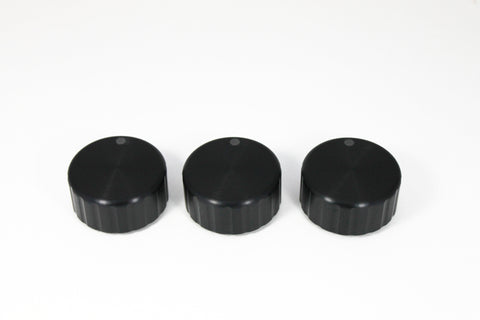 Black Precision Climate Control Knobs - Round