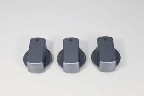 Pewter Precision Climate Control Knobs