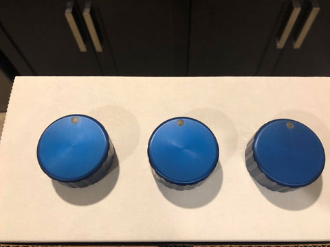 Blue Precision Climate Control Knobs - Round