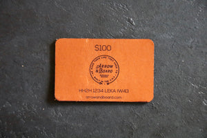 Leather Gift Card