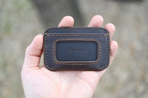 Leather Simple ID Wallet - Espresso