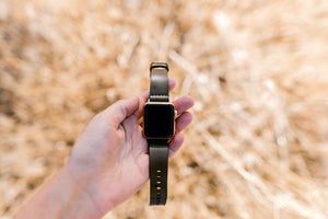 Leather Simple Apple Watch Band - Olive