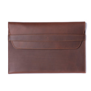 Leather MacBook Envelope Case - Chestnut