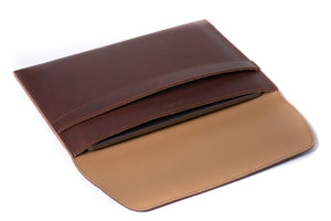 Load image into Gallery viewer, Leather MacBook Envelope Case - Chestnut