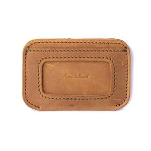 Leather Simple ID Wallet - Tobacco