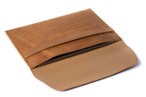 Leather MacBook Envelope Case - Tobacco