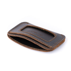 Load image into Gallery viewer, Leather Simple ID Wallet - Espresso
