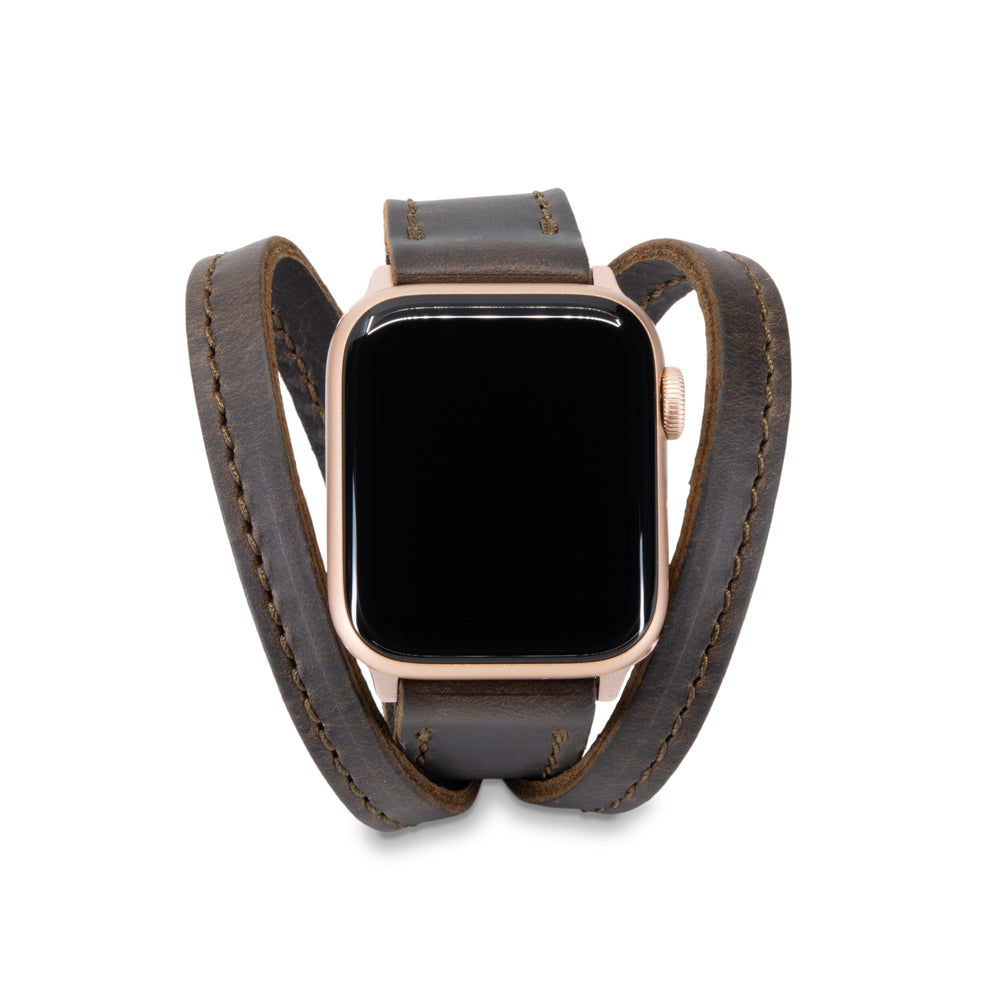 Load image into Gallery viewer, Triple Tour™ Apple Watch Band - Espresso