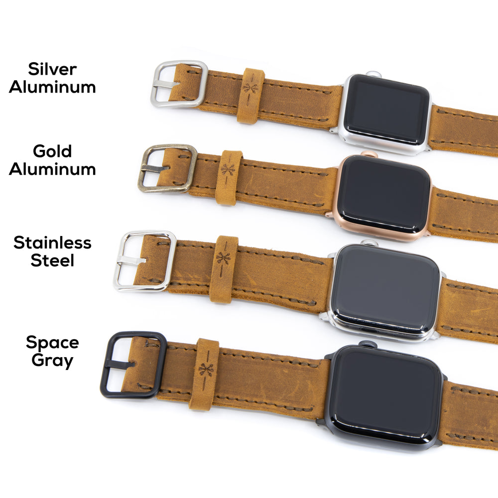 Load image into Gallery viewer, Triple Tour™ Apple Watch Band - Medium Brown