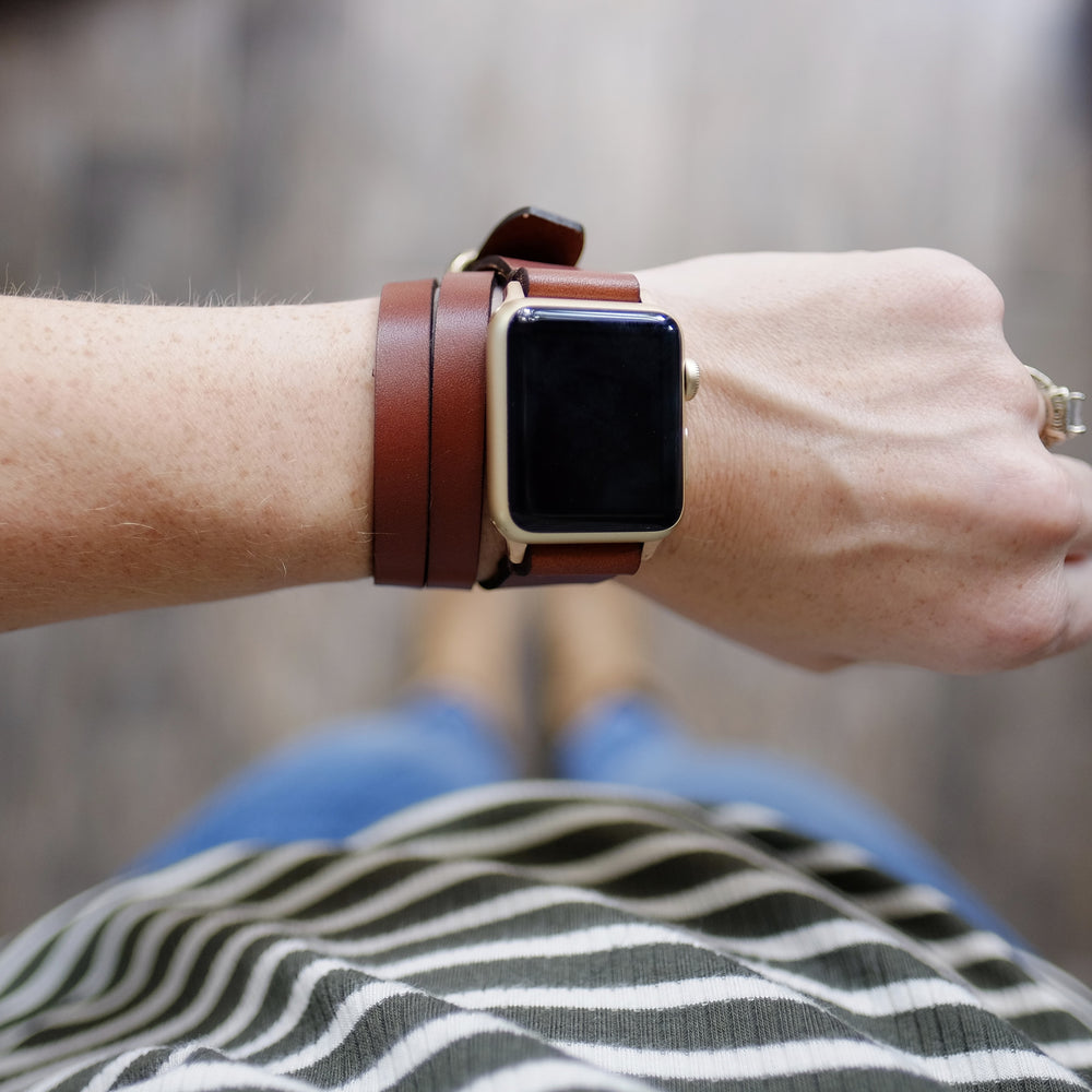 Triple Tour™ Apple Watch Band - Medium Brown