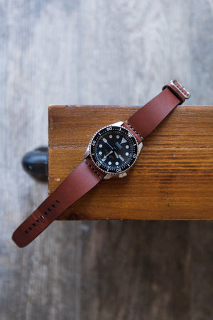 Load image into Gallery viewer, Leather Simple Watch Strap - Medium Brown