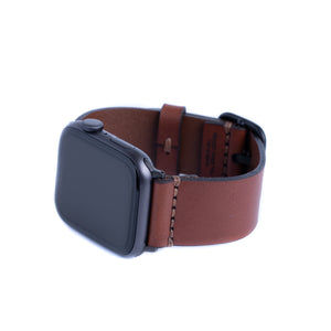 Load image into Gallery viewer, Leather Simple Apple Watch Band - Medium Brown