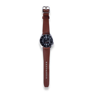 Leather Simple Watch Strap - Medium Brown