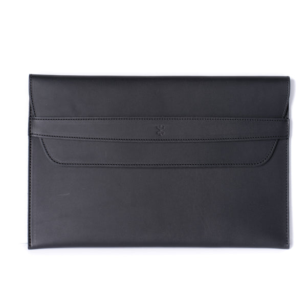 Leather MacBook Envelope Case - Midnight