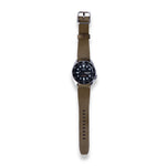 Leather Simple Watch Strap - Olive