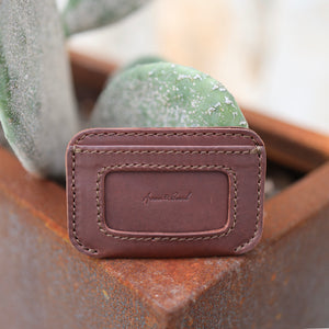 Leather Simple ID Wallet - Chestnut