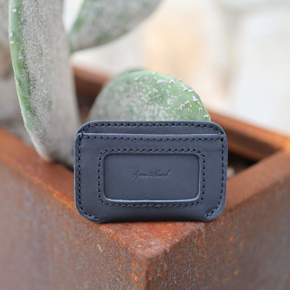 Leather Simple ID Wallet - Midnight