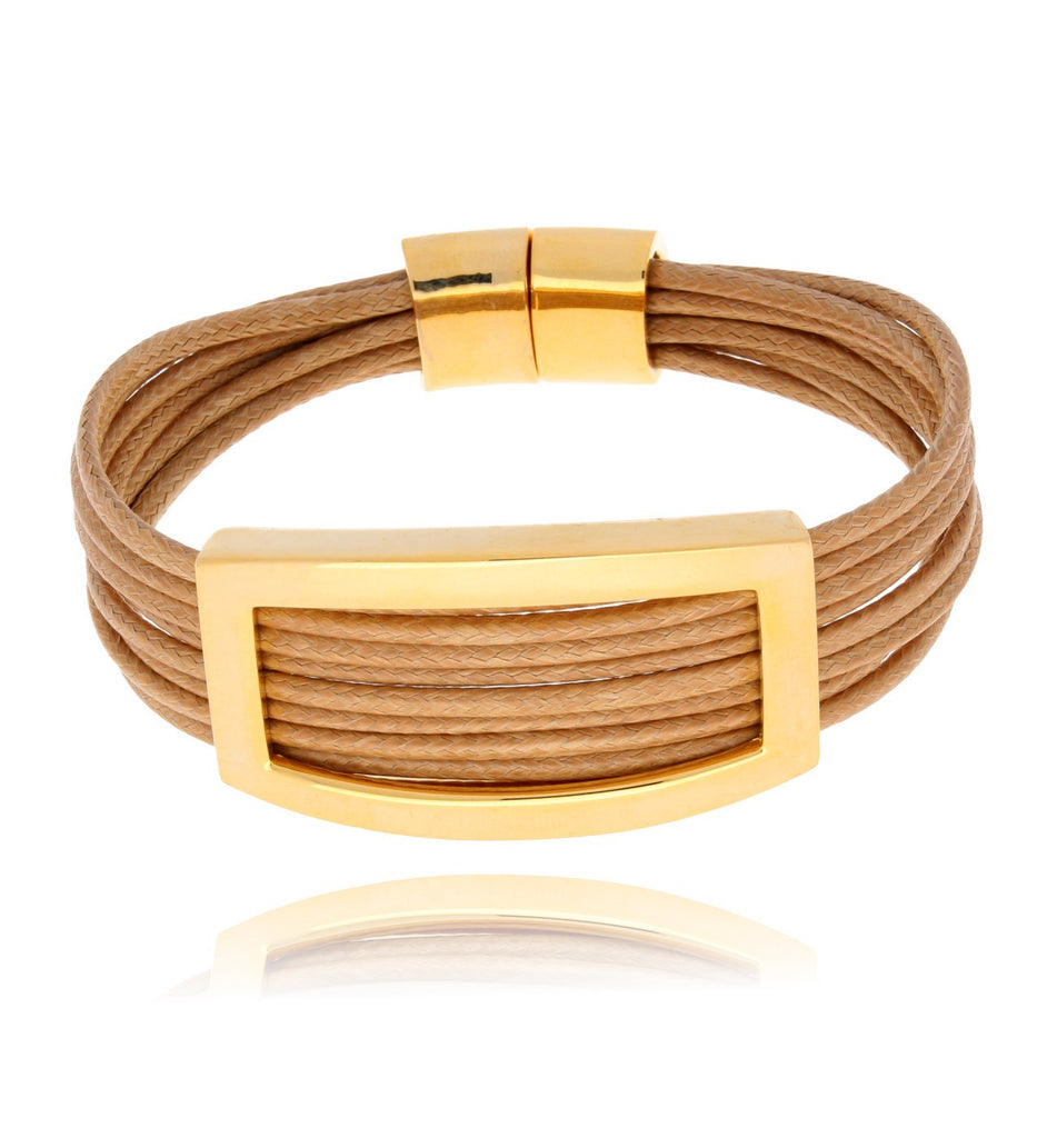 Gold and Beige Bracelet BAM0253