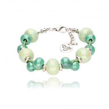 Pistachio Bracelet with Emerald and Mint Ceramics BC1229