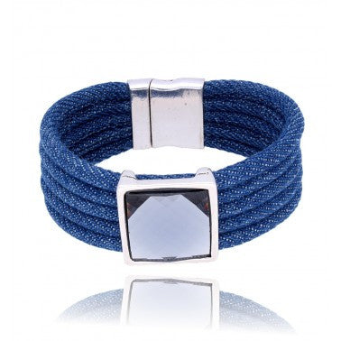 Blue Boho Bracelet with Crystal BBR0158