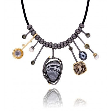 Black, Gold and Grey Necklace NAR0019