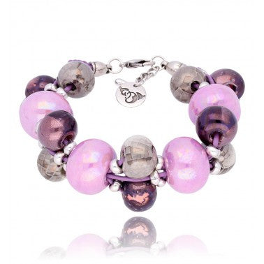 Purple, Lilac and Grey Bracelet BC1877