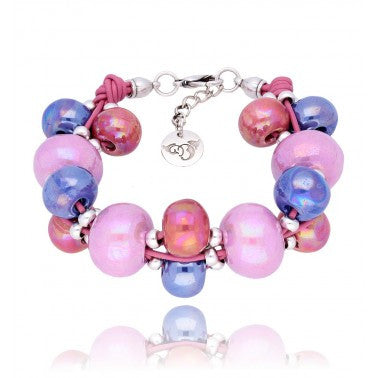 Violet, Lilac and Eosin Bracelet BC1824