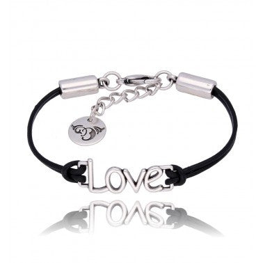 Black and Silver Bracelet BIL5673