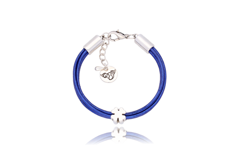 Indigo Bracelet with Silver Metal Element BIL5546