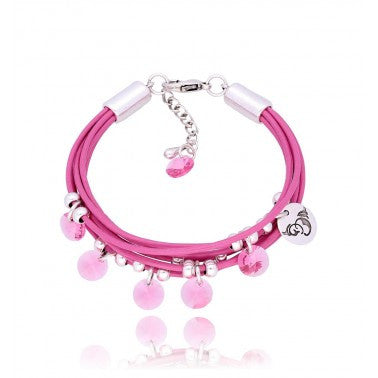By Dziubeka Ireland Pink Bracelet with Swarovski Crystals BIL5621