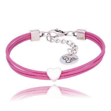 By Dziubeka Ireland Pink Leather Bracelet BIL5653