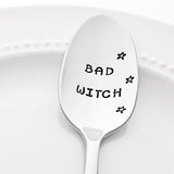 Bad Witch Halloween Kitchen Decor Stamped Spoon by Bon Vivant Design House