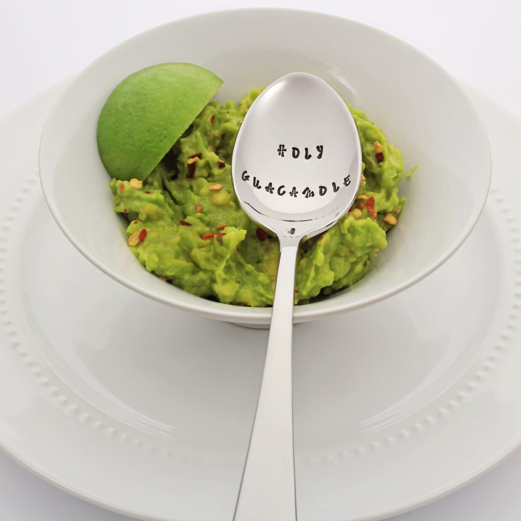 Holy Guacamole Stamped Spoon