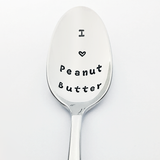 I love peanut butter stamped spoon foodie Valentine gift for her him