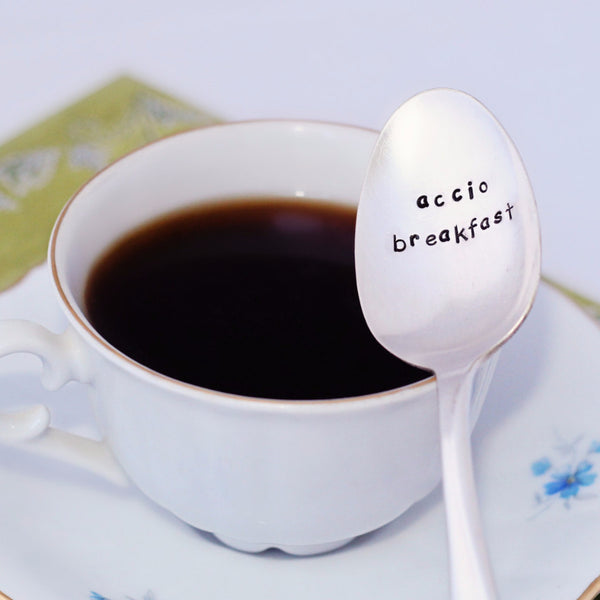 "Harry Potter ""Accio Breakfast"" - Stamped Spoon"