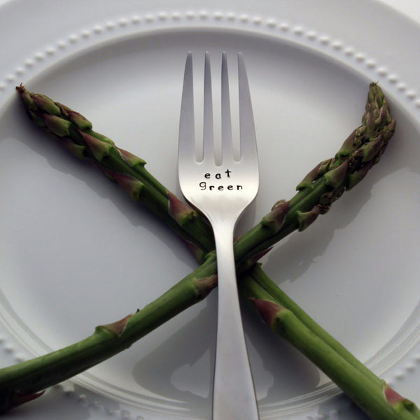 Eat Green - Stamped Fork for Healthy Living