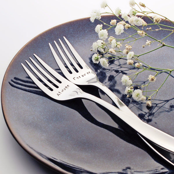 Always and Forever - Stamped Wedding Forks