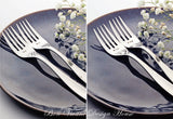 Mr and Mr - Stamped Forks for Same Sex Weddings (Add a Custom Wedding Date)