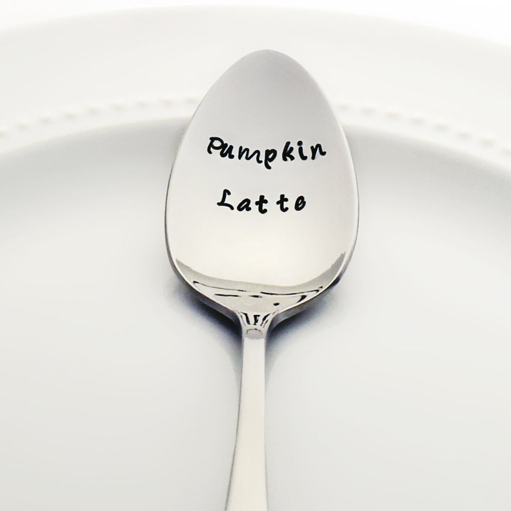 Pumpkin Latte - Stamped Spoon for Coffee Lovers