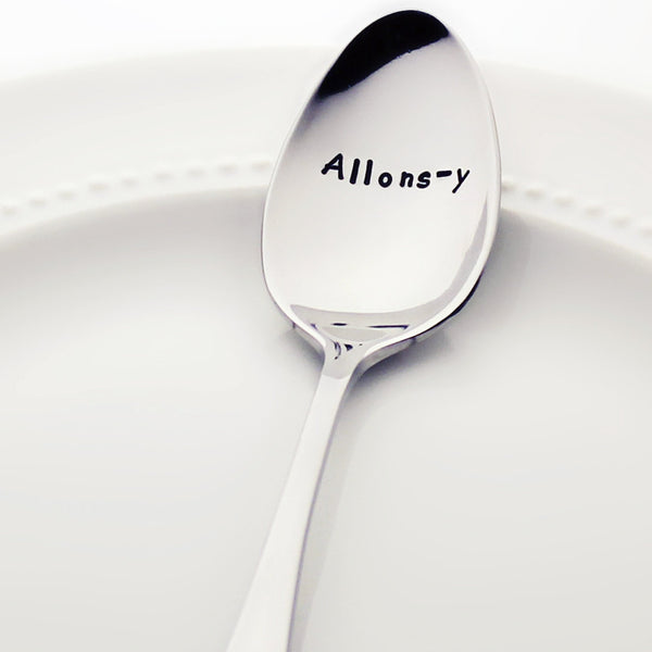Allons-y - Stamped Spoon for Doctor Who Fans
