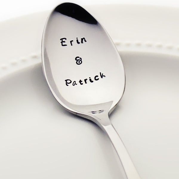 Couple's Names - CUSTOM Stamped Spoon - Unique Wedding Gifts