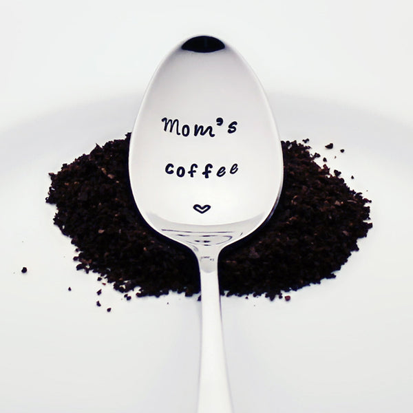 Mom's Coffee - Stamped Spoon for Coffee Lovers