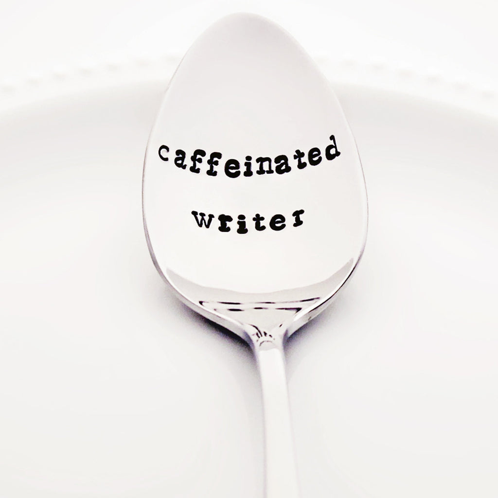 Caffeinated Writer - Stamped Spoon