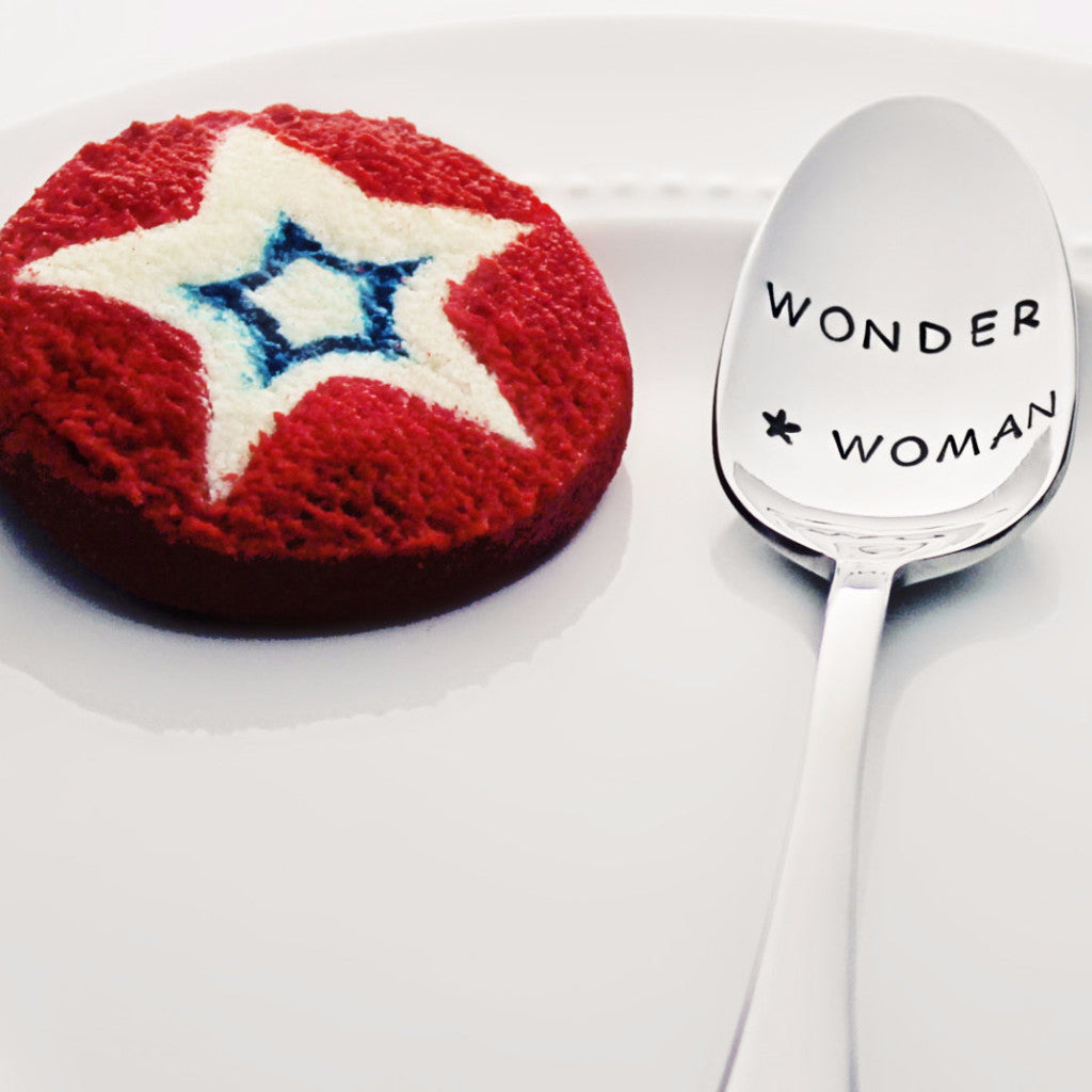 Wonder Woman with Star - Stamped Spoon