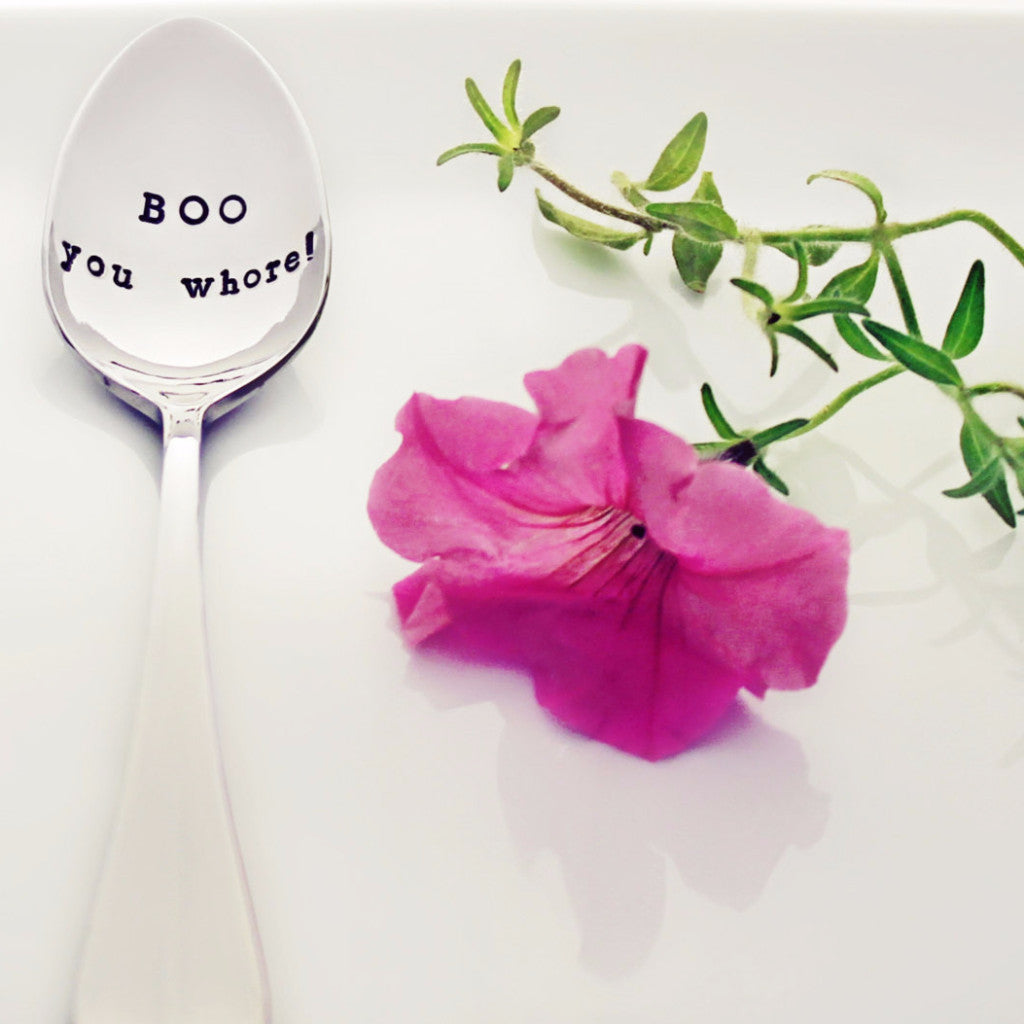 "Mean Girls: ""BOO you whore!"" - Stamped Spoon"