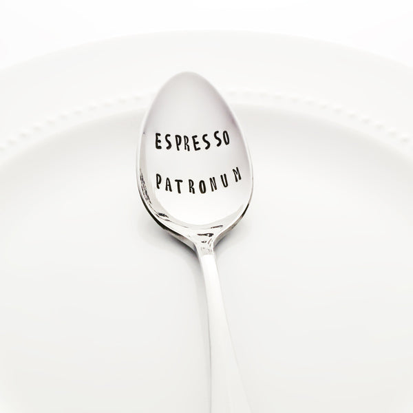 "Harry Potter Pun: ""Espresso Patronum"" - Stamped Spoon"